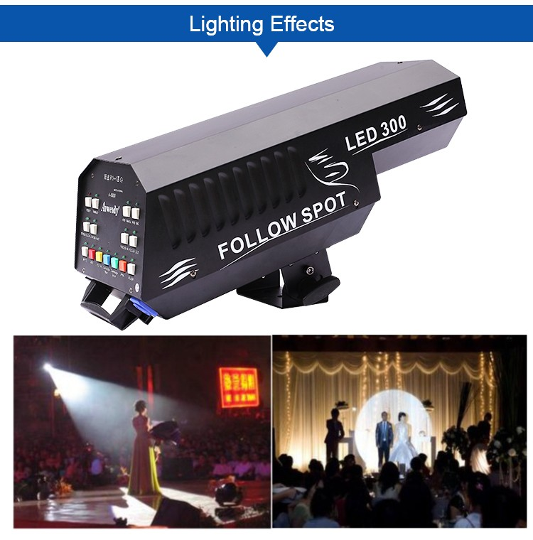 guangzhou aiweidy stage lighting equipment 350w led follow spot stage light