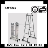 "15.5"" Aluminum Multi-function Folding Step Ladder extender"