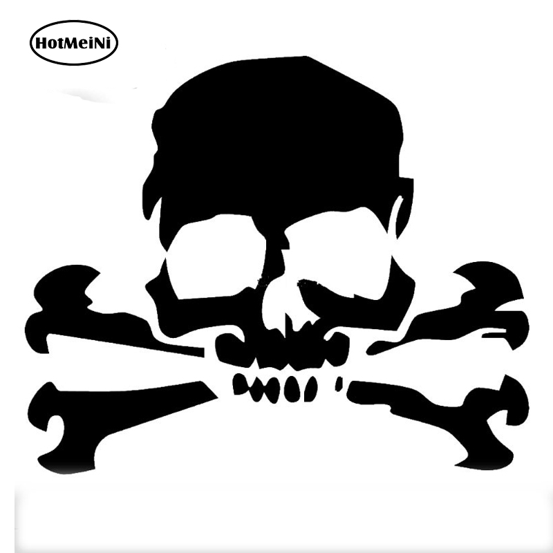 Skeleton Middle Finger Skull Funny Vinyl Decal Car Truck Window Sticker FCK JDM