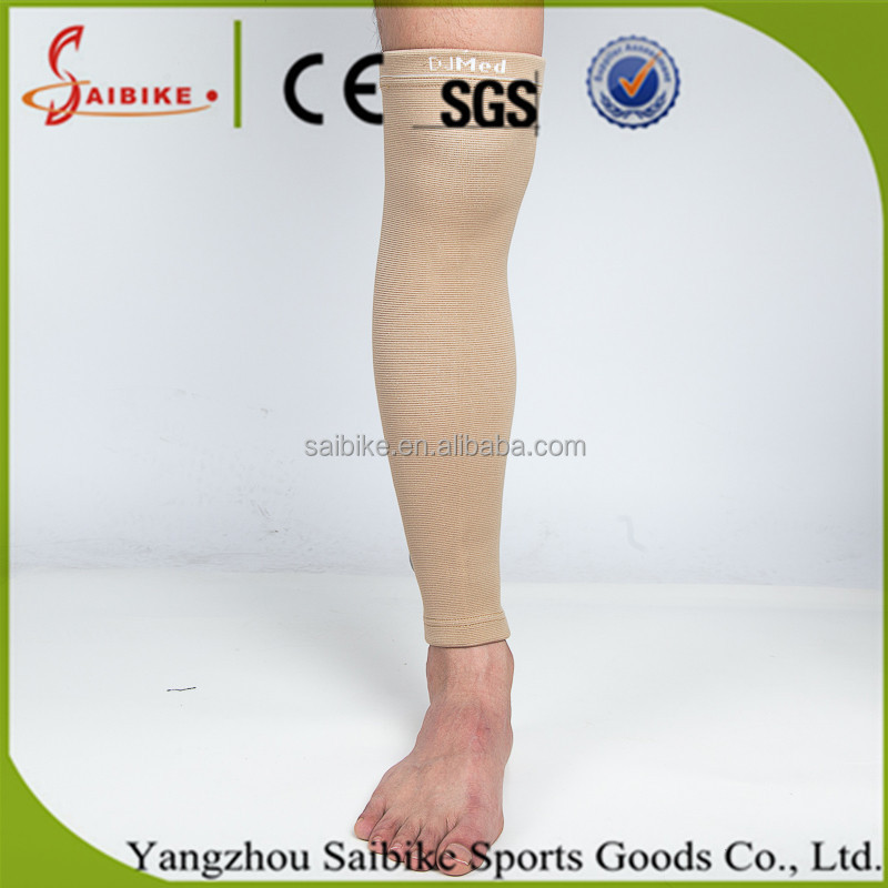 Long Knee Support Elastic Sports Leg Wrap Bandage Sleeve Calf Patella Guard Knee Brace Protector Pad Leg Warmer Calf Stocking