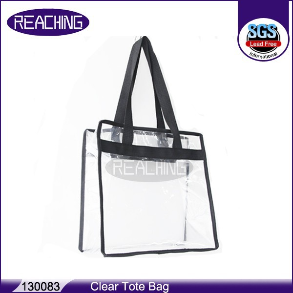Wholesale Resealable Plastic Makeup Handbags Portable Drawstring Travel Transparent Shopping Bag PVC Cosmetic Clear Bags