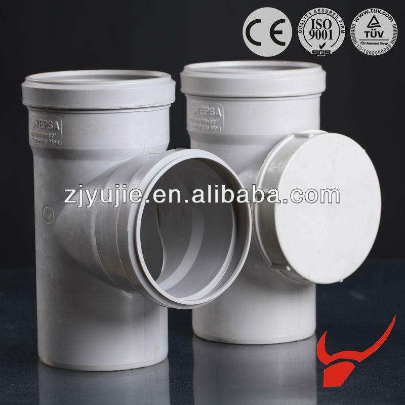 made in china pvc pipe fitting with the rubber gasket sanitary plastic pvc pipe tee