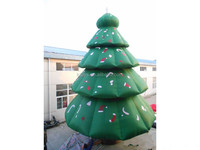 Huge green led inflatable christmas tree for outdoor decoration