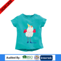 custom summer fitness baby girl short sleeve fashion print pattern causal wear t-shirts