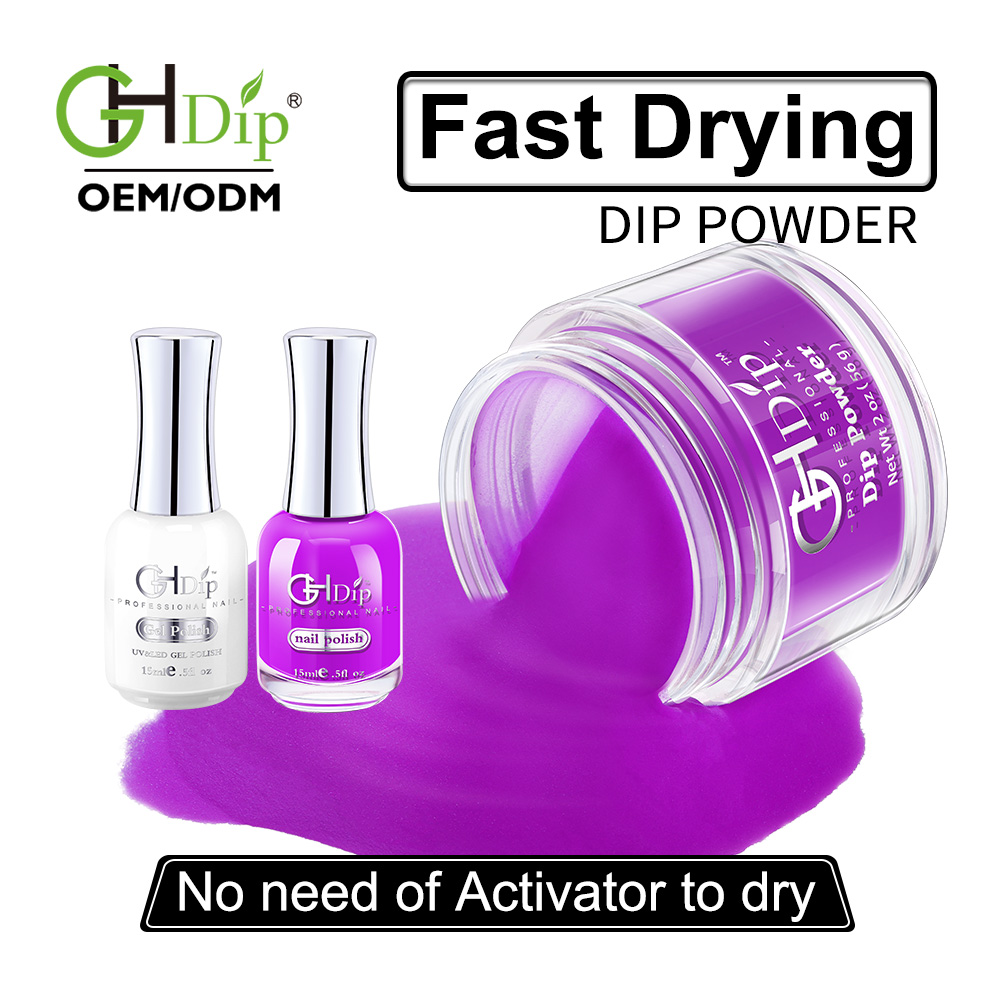 Fast Drying Acrylic Nail Dipping Powder 3 In 1 Color Match Gel ...