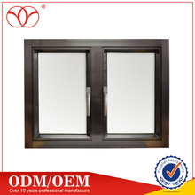 Aluminium cheap casement windows for near sea house with cover frame window