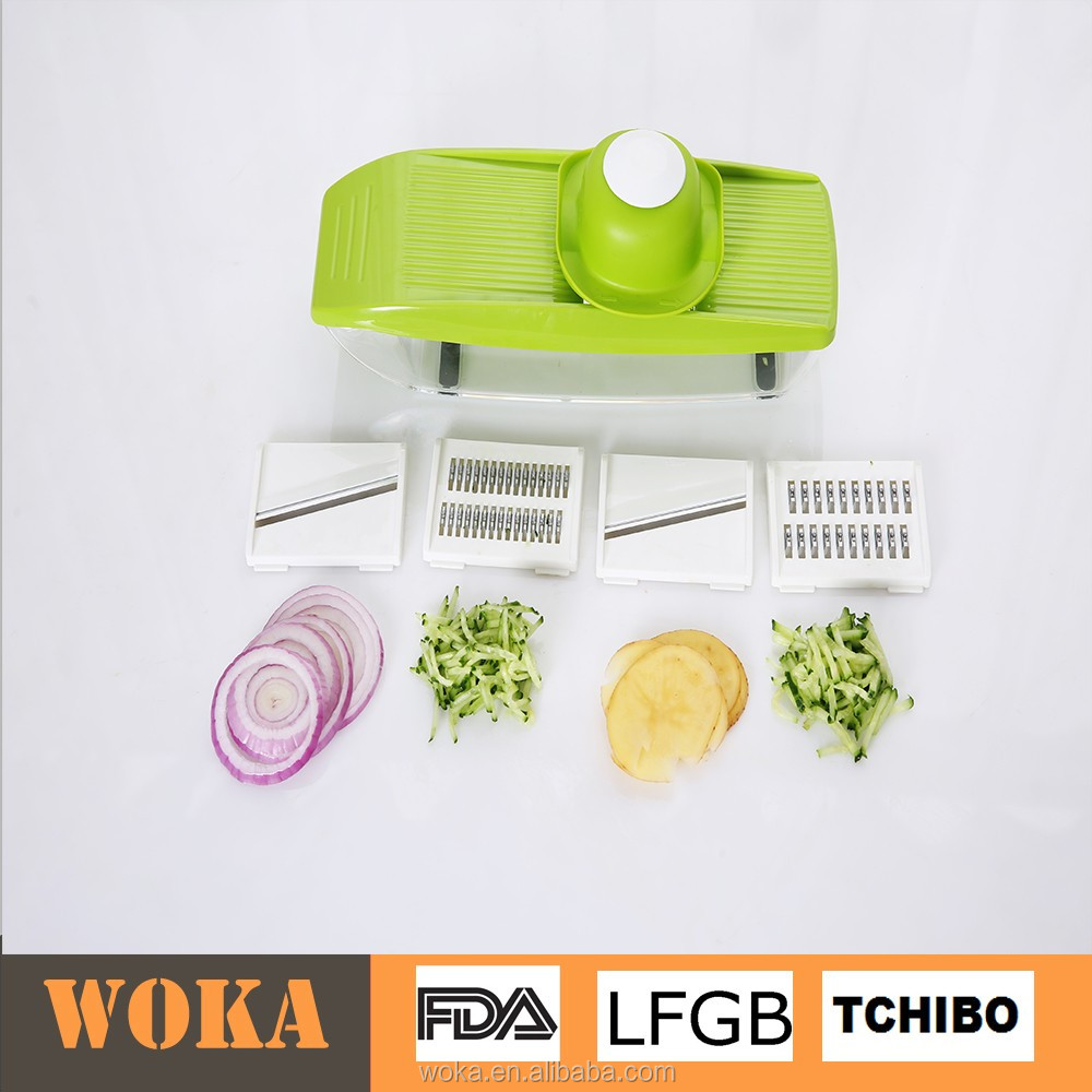 Mandolin vegetable cutter with 4 blades Handy box grater and slicer As seen on TV Food Chopper