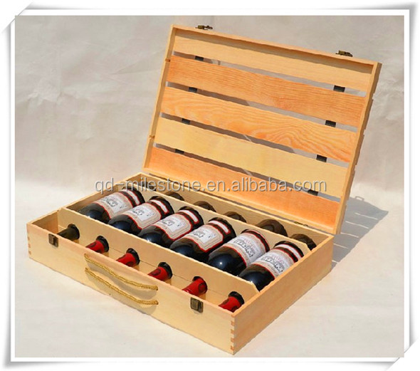 New designed unfinished wholesale cheap wooden wine crates for Where to buy used wine crates