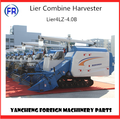 Lier4LZ-4.0B plus top pipe high quality paddy combine harvester