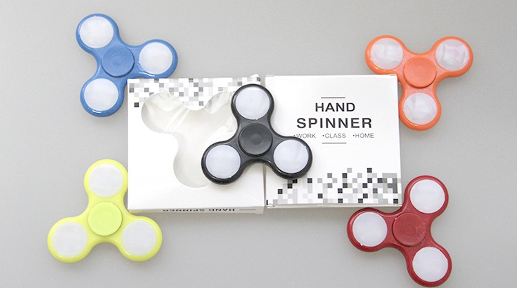 Explodes the funds led fidget spinner body For Autism and ADHD Children