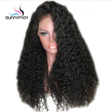 Peruvian Curly Lace Front Human Hair Wigs Glueless Lace Front Wigs With Baby Hair