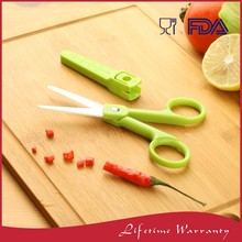 Colored Best Kitchen Ceramic Vegetable Cutting Scissors With PP Cover