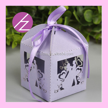 Unique Laser Cut Glitter Paper Flying Butterfly Favor Box Wedding Decorations TH-110