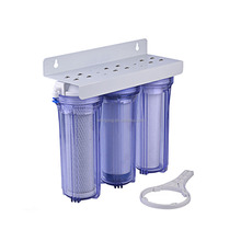 Triple Transparent 10 Inch Housing types of cartridge water mud purificaiotn filter