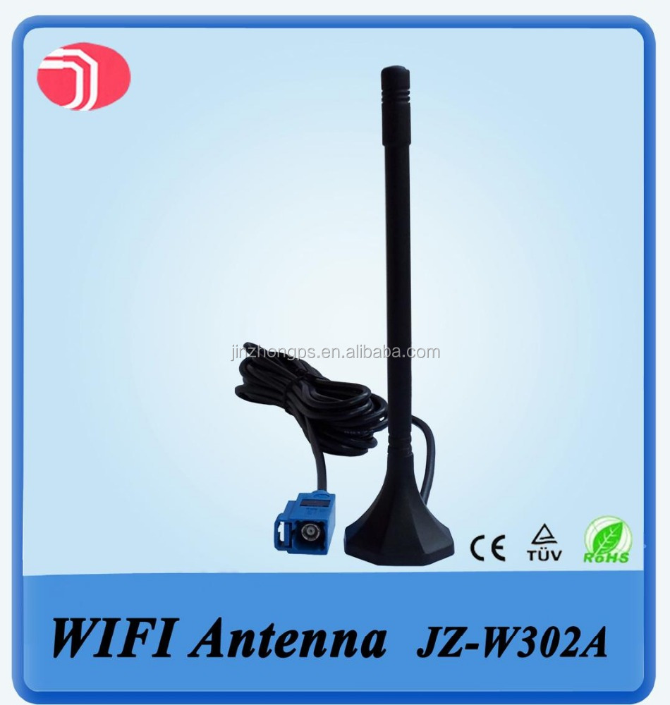 Free Sample Factory Price SMA Amplified Car Antenna Magnetic Mount Sucker Dual Band Wifi Antenna