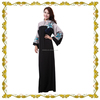 MF23353 new muslim fashion Saudi Arabia black abaya islamic kaftan