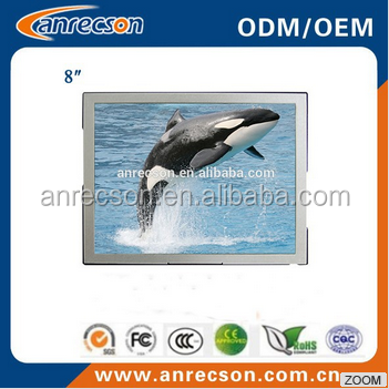 Industrial LCD 8 inch Resistive VGA TouchScreen Monitor