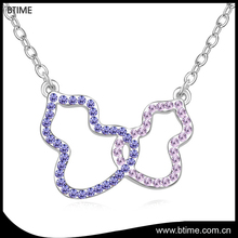 Yiwu factory directly sale simple design jewelry rhinestone necklace