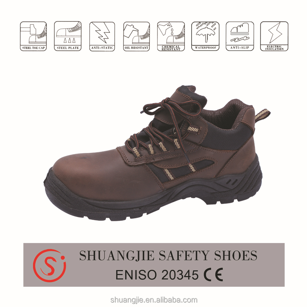 PU Injection ContructionSteel Toe Cap nubuck Leather Upper Safety Shoes S1 S2 S3 SB SBP Available EN ISO9001 20345:2011
