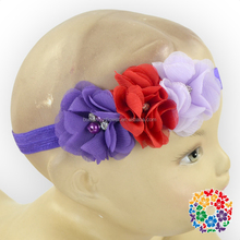 Beautiful Elegant Rose Hair Band Triple Flowers Headband Roes Flower Headband For Kids Lily Flower Crown Headband
