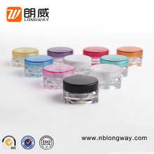 High Quality Eco- friendly Cosmetic Containers 3g 5g Empty Plastic Small Cream Jars for Cosmetic