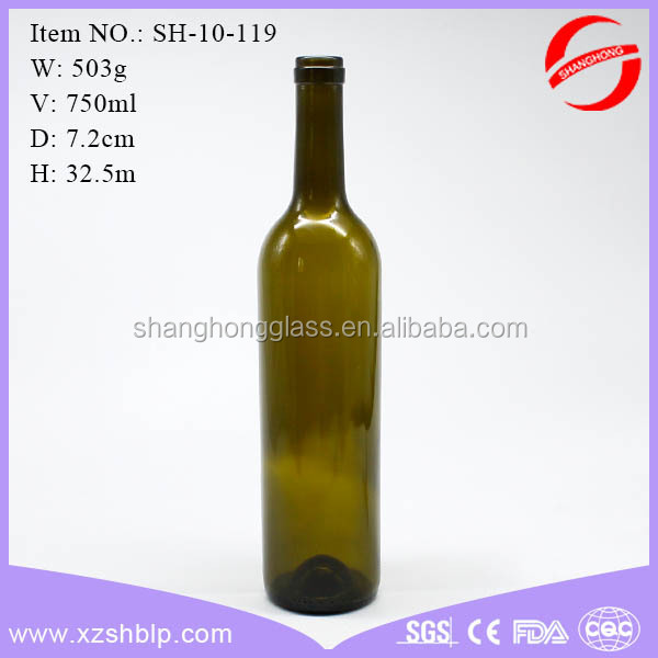 750ml Amber Bordeaux wine Bottle