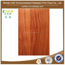 High quality imitate Nanmu wood plastic vinyl floor covering 12mm Thick