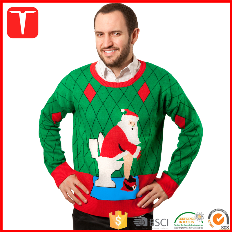 Mens custom knit pullover ugly sweaters christmas