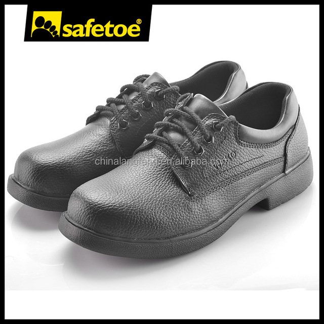 Food industry kitchen non-slip safety shoes for cheap chef with cow leather