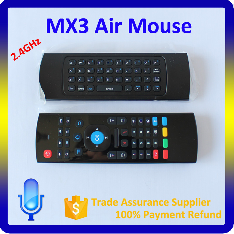 MXIII Wireless Air Mouse Keyboard for MX3 Android Mini PC TV Box Remote USA