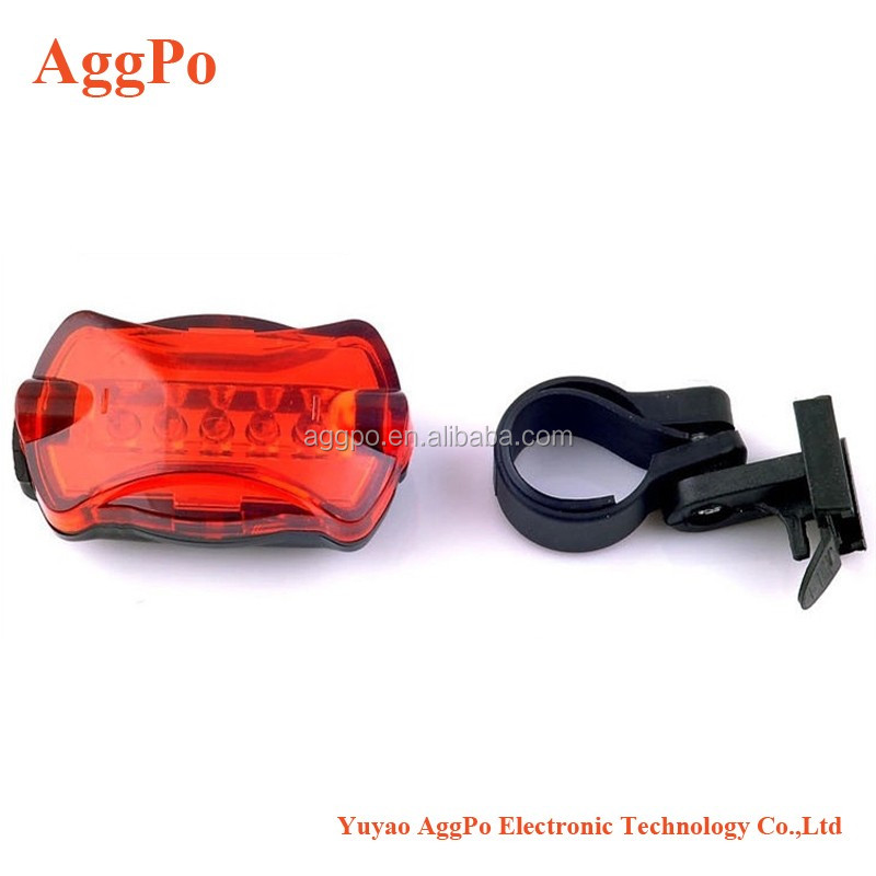 High Intensity Red 5 LED Bike - Bicycle - Cycling Flashing Rear Safety Tail Light with 6 Modes,Quality LED bike flashlight 03