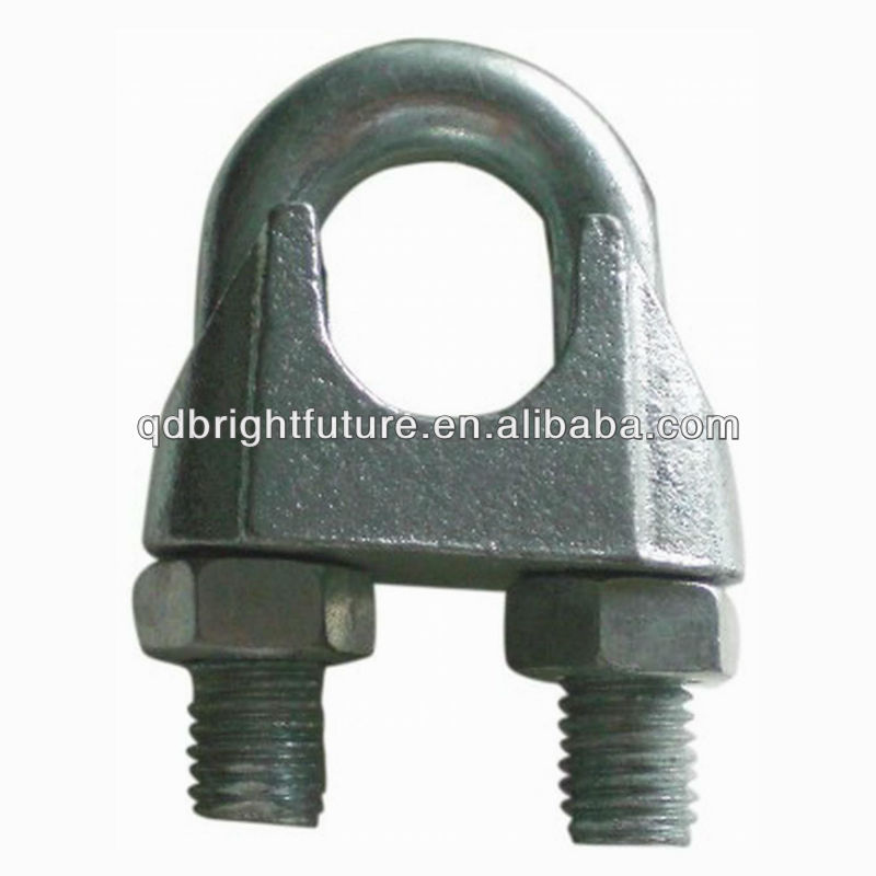 us type malleable wire rope clip,zinc plated