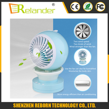 Mini Fan USB Rechargeable Water Mist Fan Air Conditioner Fan With Night Light