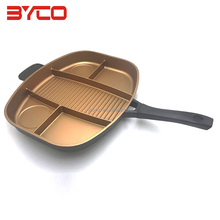 Hot Selling Eco-friendly Custom Aluminum Non-Stick Divided Grill pan