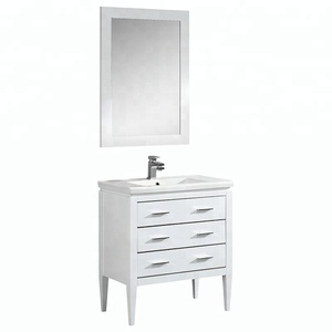 Modern Cheap Solid Wood Floor Stand Cabinet Bathroom Vanity Table