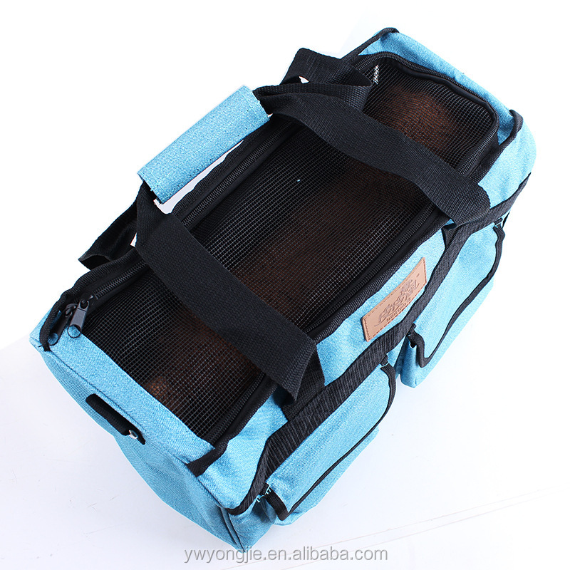 New Model Custom Pet Outdoor Travel Carrier Canva Dog Carriers