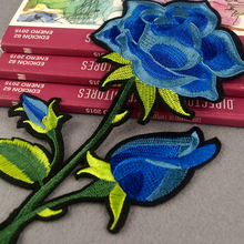 Applique Work Design Emboridery Blue Rose Applique