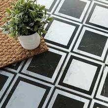 Viktorianischen Schwarz Und Weiß Italienischem Marmor Halle Bodenbelag  Design Porzellan Fliesen Muster