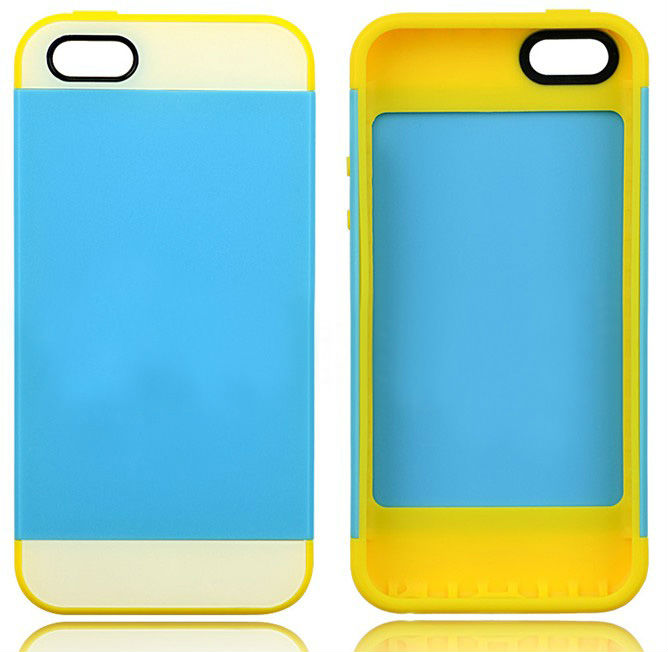 hot selling case for iphone 5C, 2 in1 TPU & Matt PC Hard Back Cover case