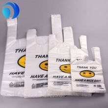 Wholesale Promotional Plastic Mesh Shopping Bag t-Shirt Bag