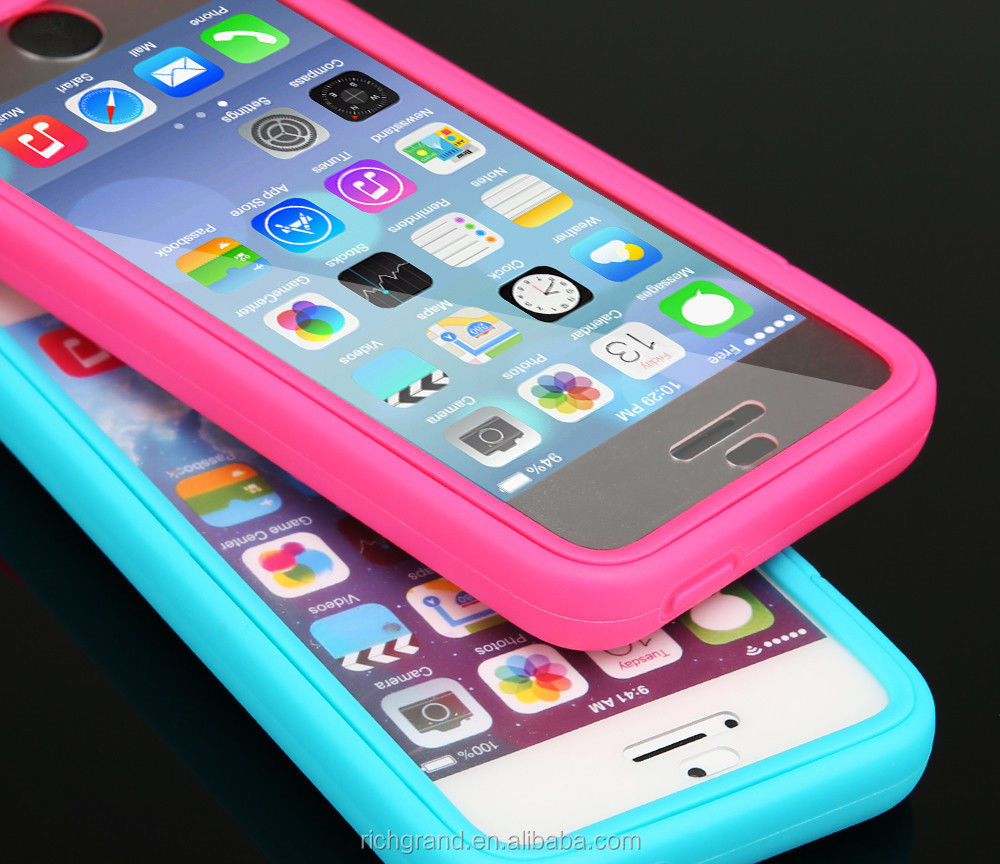 Candy Color Transparent Silicone Flip Back Cover Phone case For iphone 5C /5S