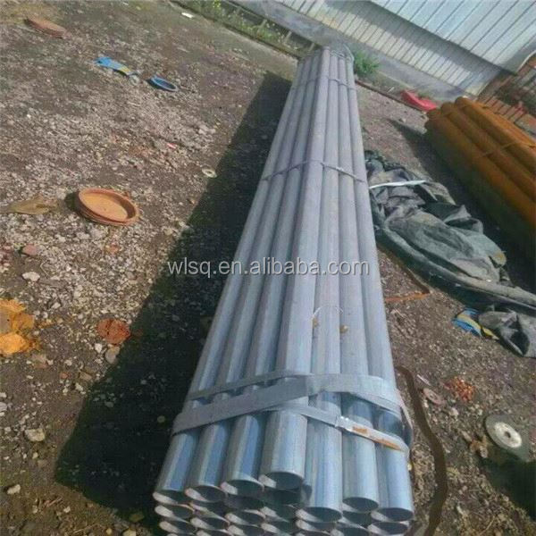 hollow pipe size bs1387 threaded end galvanized tube