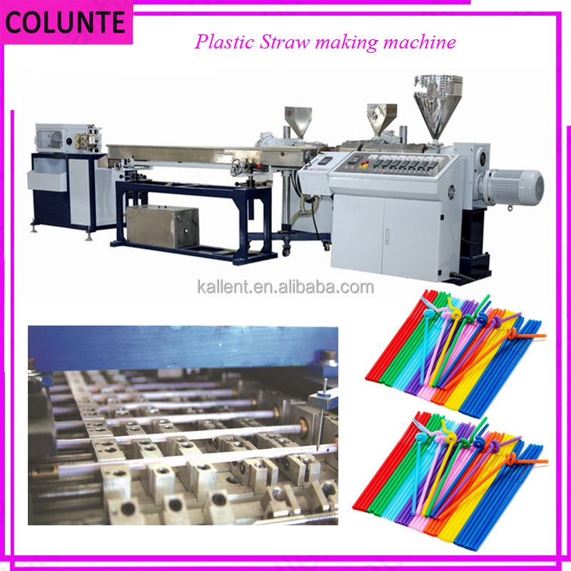 Colunte Low Price For Three Colors Drinking Straw Extrusion Machine