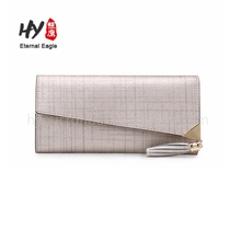 High-end fashion long section zipper leather wallet