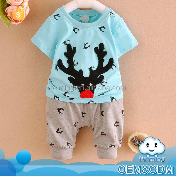 2016 cheap china wholesale clothing dear patterns cool 2 pcs korean summer baby boy clothes comfortable children clothing set