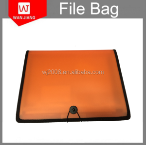 Plastic PP cover conference file folders with notepad holder