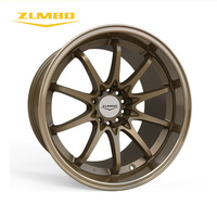 "Zumbo-Z91 Sand blast bronze+lip/bronze 18 inch deep dish wheels Brand name small car parts 18"" car alloy wheels 4x100 rims"