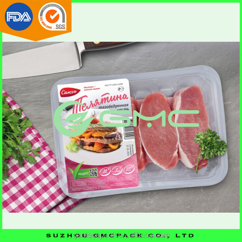 Rectangle Disposable Food Plastic Packing Tray Frozen Food Tray for Meat and Fish