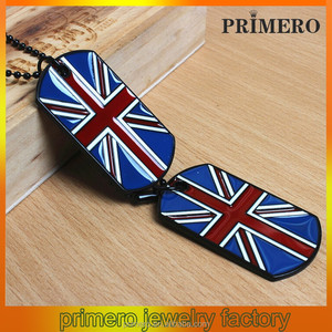 PRIMERO fashion wholesale jewelry Fashion hip-hop clothing accessories leisure wild American flag sweater chain dog tag pendants