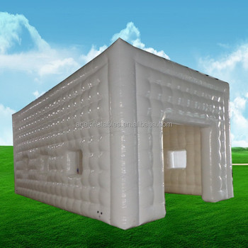 white air-tight inflatable cube tent for sale